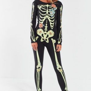 Urban Outfitters S Floral Skeleton Costume WORN 1X